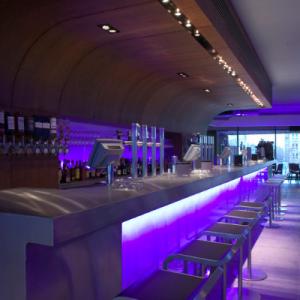 Interior photo of the bar at Cargo