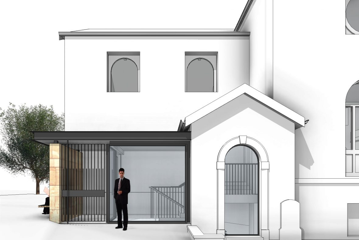 Artist's impression of the proposed East Extension at St Mark's Portobello