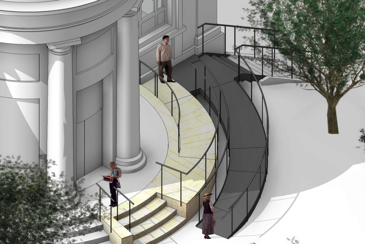 Artist's impression of the proposed entrance ramp at St Mark's Portobello